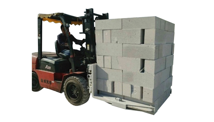 油圧フォークリフトコンクリートブロックブロックリフティングクランプ