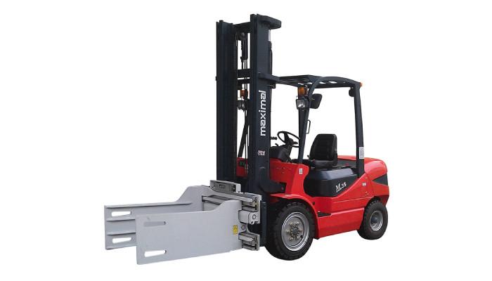 Forklift 3T me kapës Bale të Shtojcave