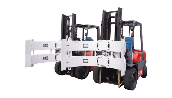 Peças de empilhadeira Empilhadeira Acessórios Acoplador de aço Rotator Paper Roll Clamp