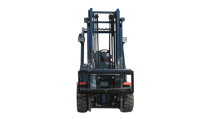 Forklift fork positioner with shift side
