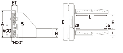 Double-armed Block and Brick Clamp