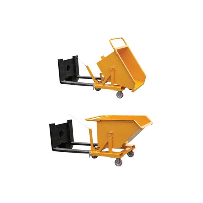 Forklift Dump Bucket/Forklift Hopper Bin/Tipping Skip For Forklift