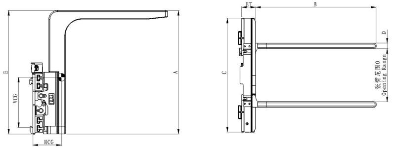 Mechanikus berendezések hidraulikus ömlesztett nagy zsák emelő targoncákhoz