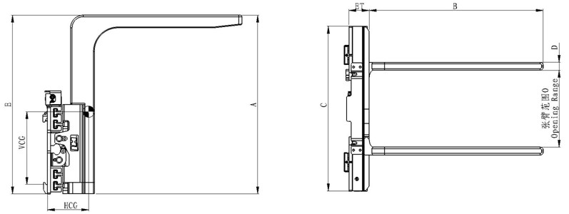 Peralatan Mekanikal Hydraulic Bulk Big Bag Lifter untuk Forklifts