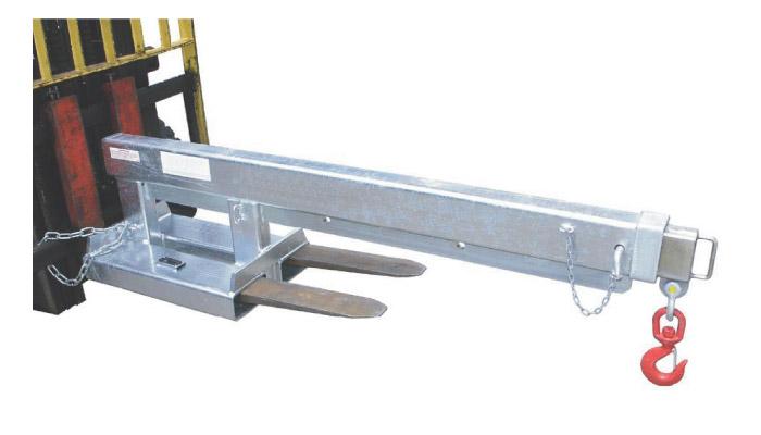 調整可能なスイングジブ固定式タインマウントフォークトラックジブアタッチメント