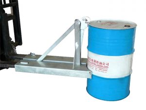 The type BGN-1 55 gallon stainless steel forklift drum handler
