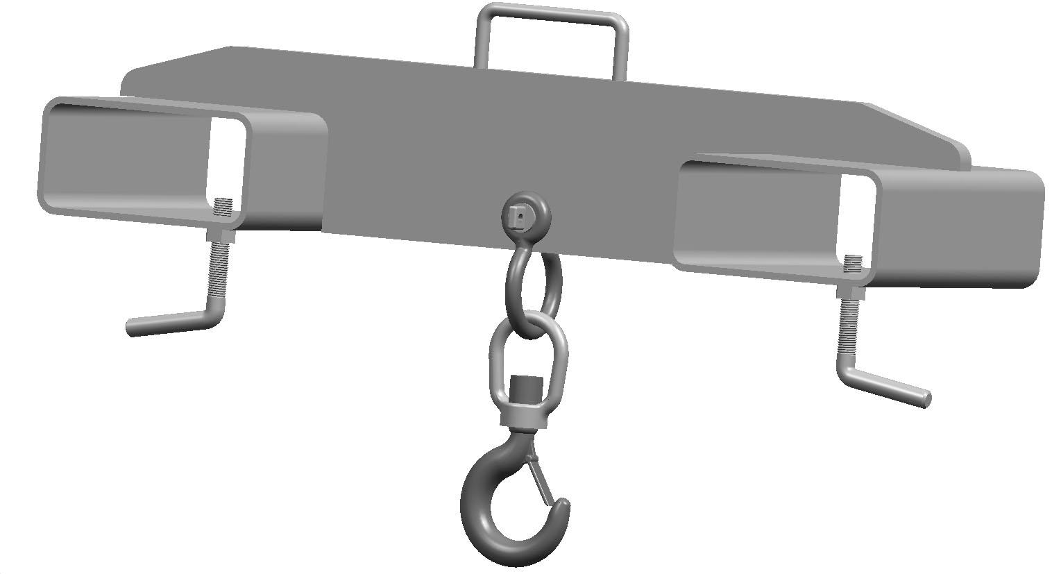 Forklift swivel lifting mounted hoisting hooks