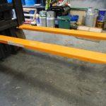 Heavy duty forklift fork extensions osha