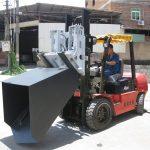 3 ton Hyundai Diesel empilhadeira empilhadeira empilhadeira com dobradiça e balde