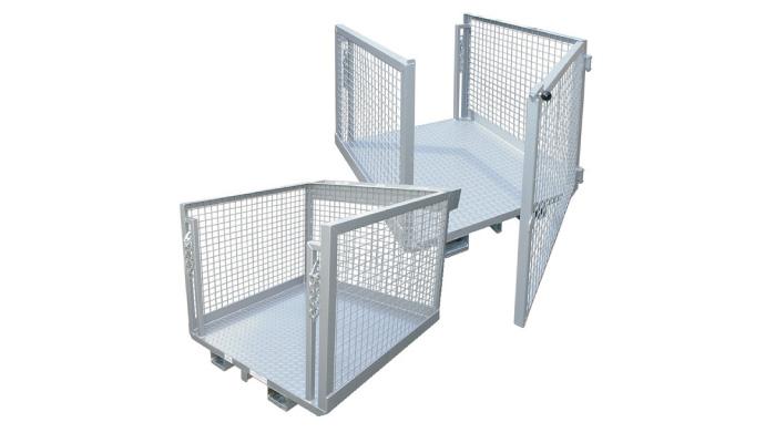 Machineal forklift goods order picker platform cages