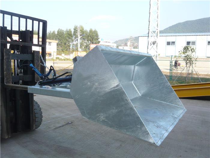 3 tonn gaffeltruck med bøtte, hydraulisk bøtte