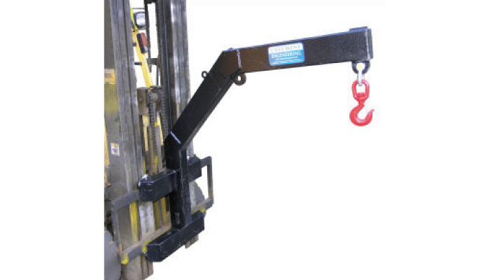 Type CMJ-2 Heavy duty carriage mounted fork truck jib attachment
